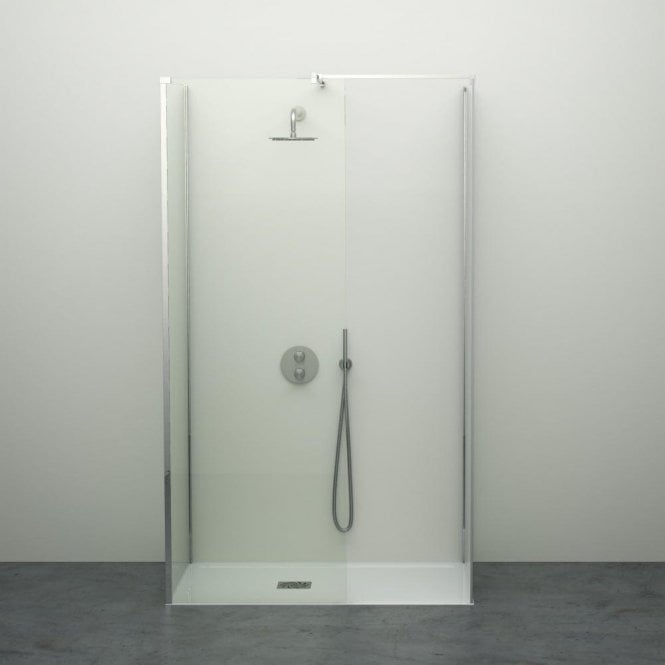 LUSSO STONE MODERN COMPLETE WALK IN SHOWER ENCLOSURE - KIT D (ALL SIZES)