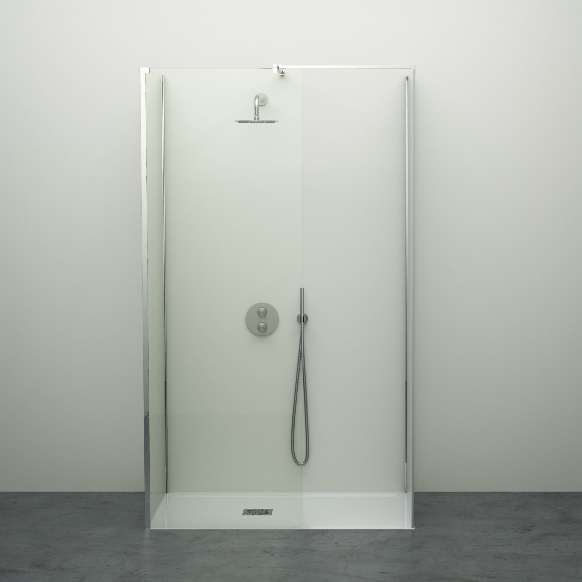 Lusso stone modern complete walk in shower enclosure kit d all sizes