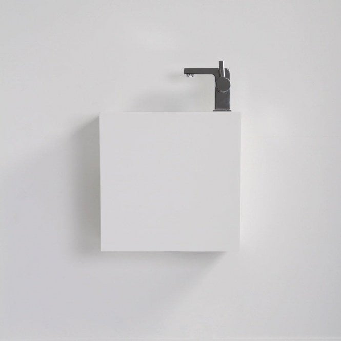 Lusso Stone Modul Solid Surface Stone Resin Wall Hung Basin 400