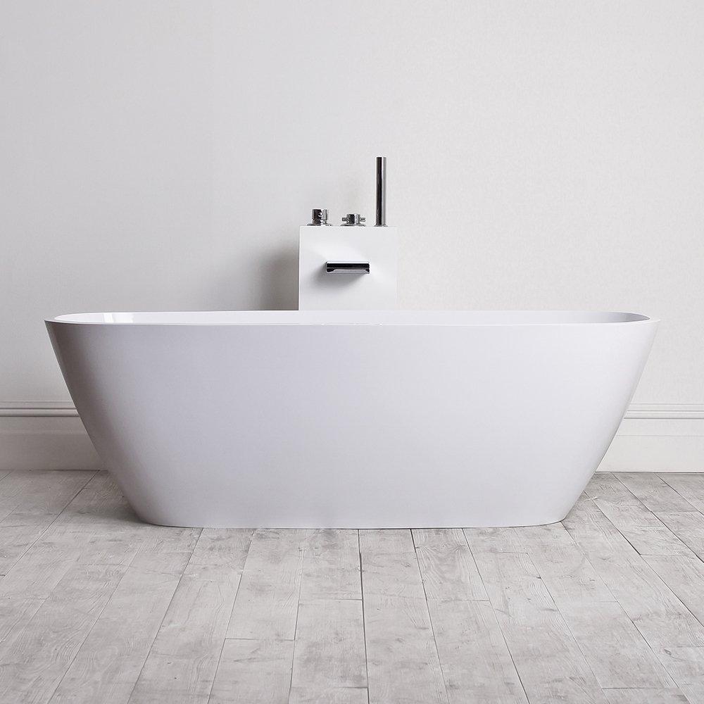 Lusso Stone Monaco Stone Resin Solid Surface Freestanding Bath ...