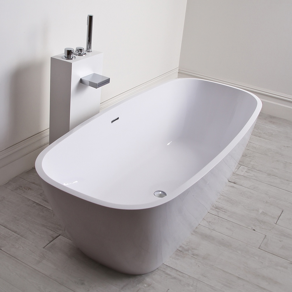 Monaco freestanding bath lusso stone bath stone for Freestanding stone resin bathtubs