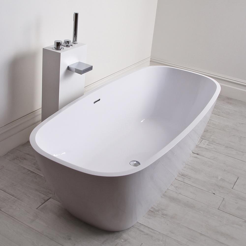 Monaco freestanding bath lusso stone bath stone for Freestanding stone resin bathtubs