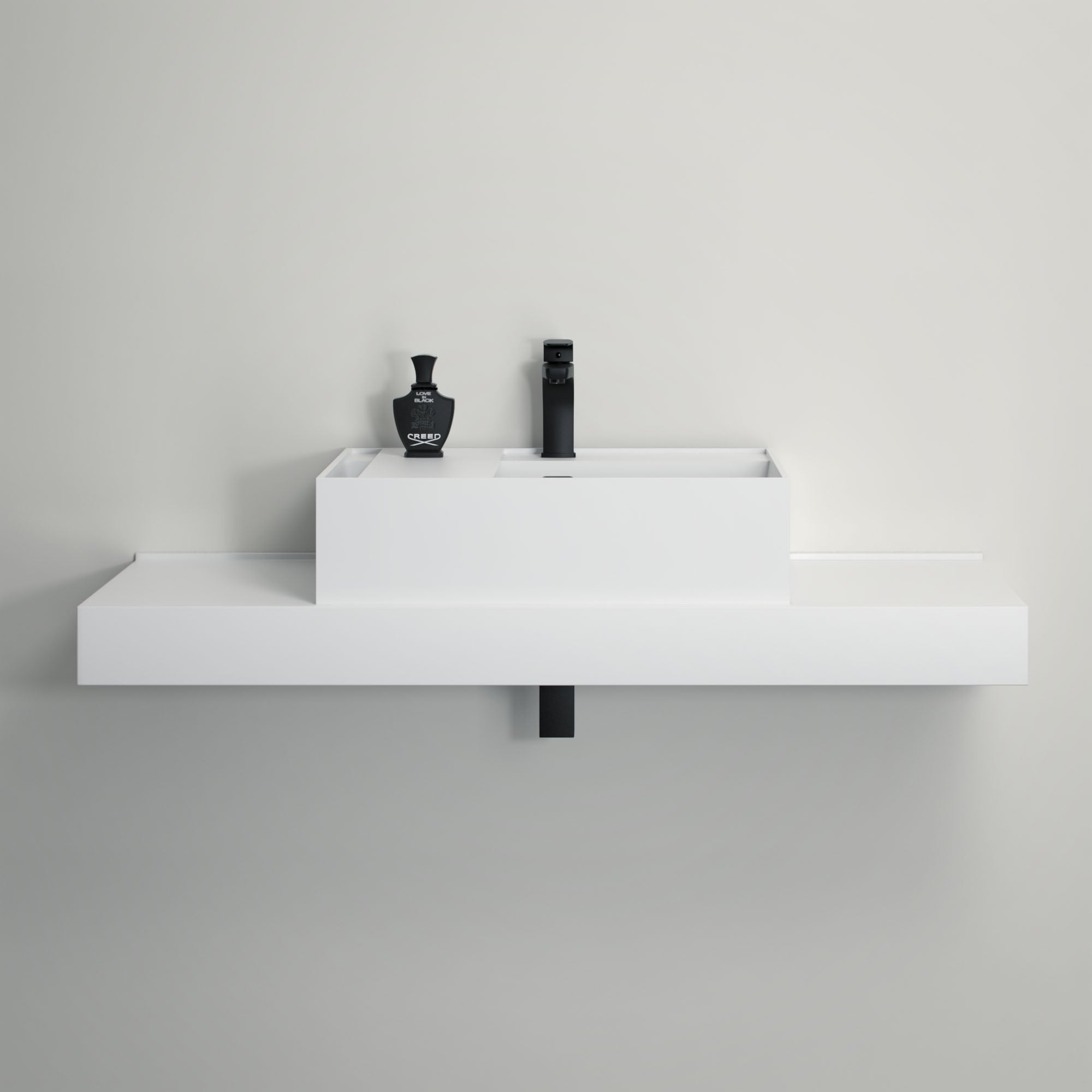 Lusso Stone Neos Stone Resin Wall Hung Counter Top Basin 600 Stone Resin Basins