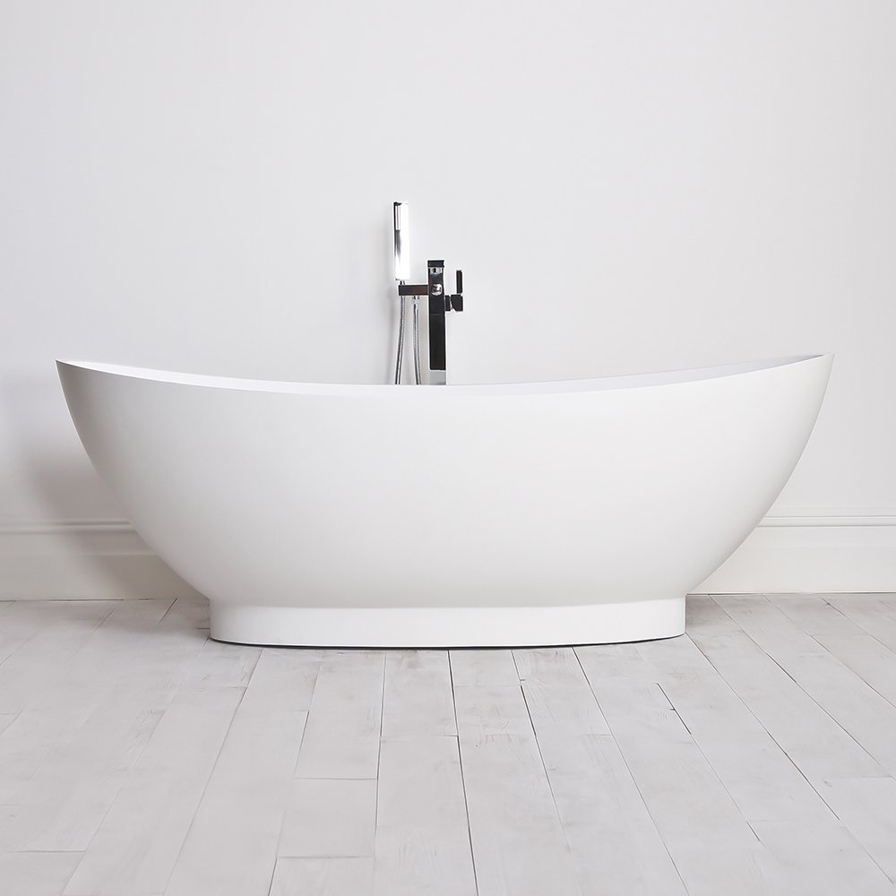 Lusso stone oasis stone resin solid surface freestanding for Freestanding stone resin bathtubs