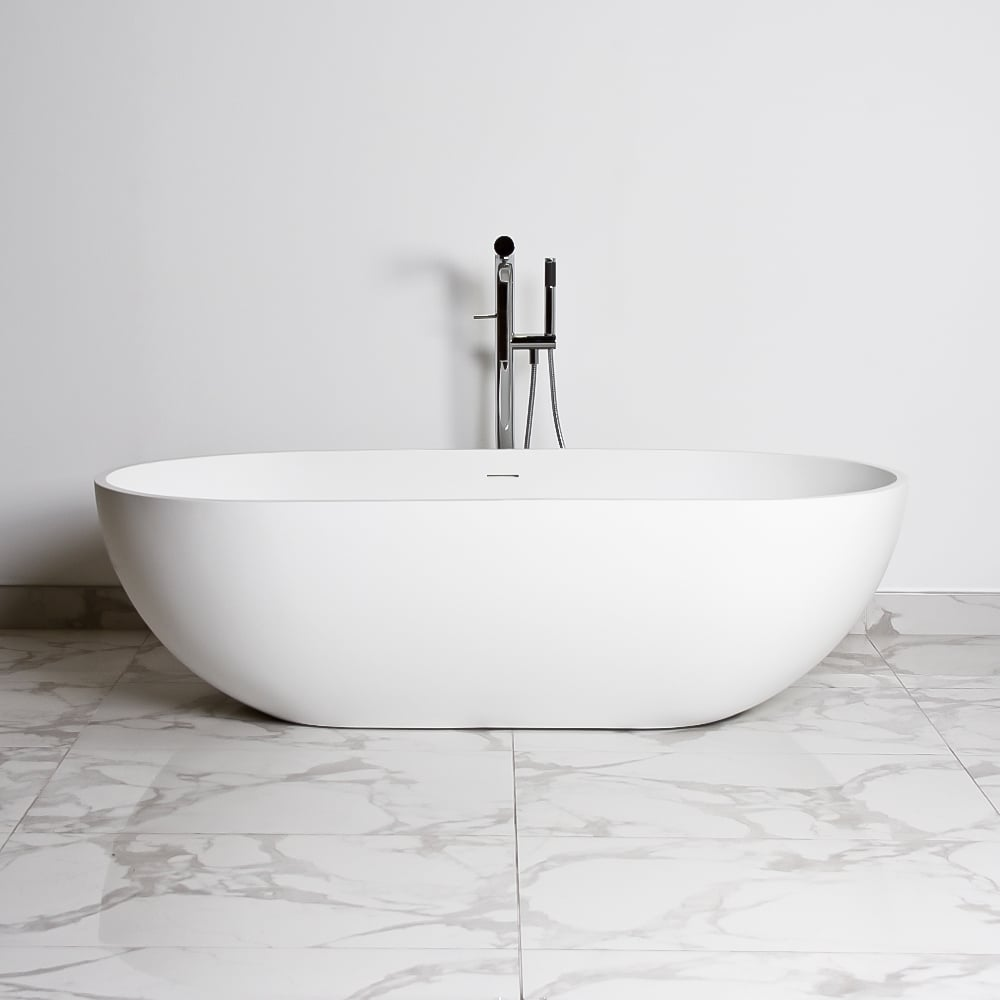 The picasso stone resin lusso stone freestanding bath for Freestanding stone resin bathtubs