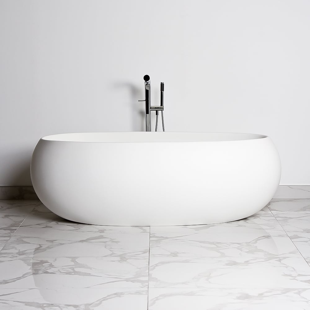 Lusso Stone Pod Solid Surface Freestanding Stone Resin Bath 1800 ...