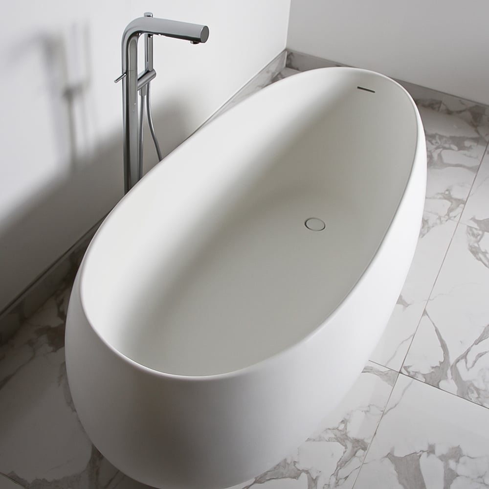 Lusso Stone Pod Solid Surface Freestanding Stone Resin Bath 1800
