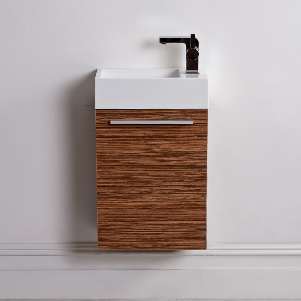 Lusso Stone Quartet Mini Wall Mounted Cloakroom Vanity