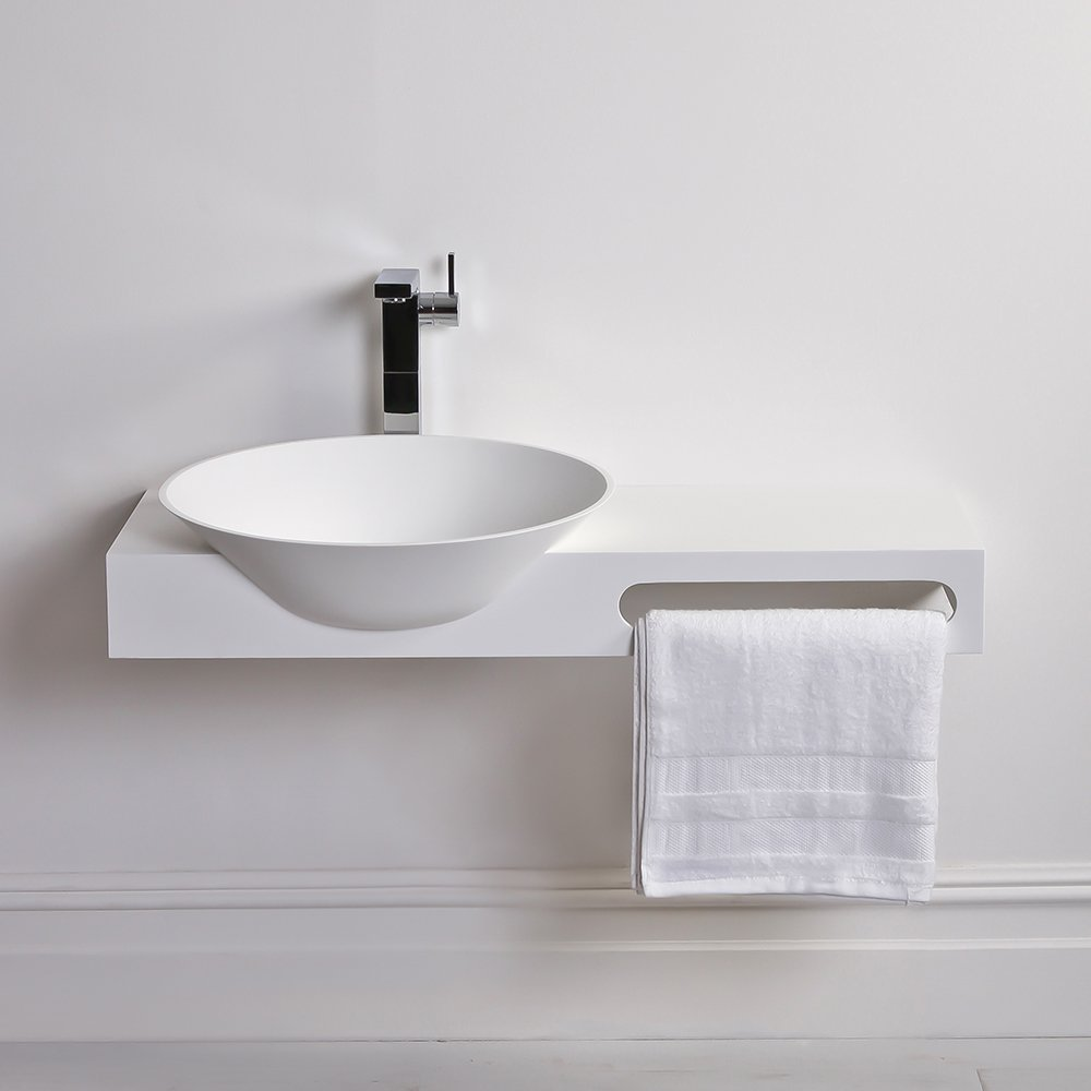 Wall Hung Bathroom Basins : ... Surface Stone Resin Wall Hung Basin Matt 1000 Stone Resin Basins