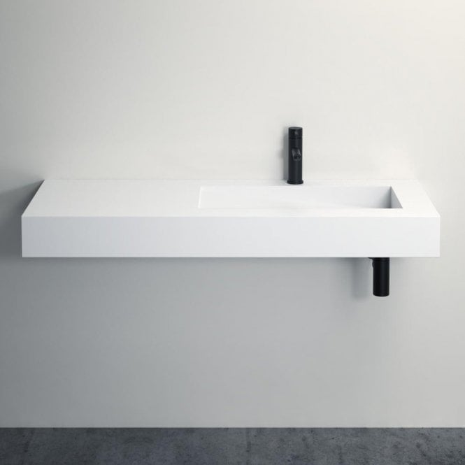 Lusso Stone Slope Stone Resin Wall Hung Basin 1200