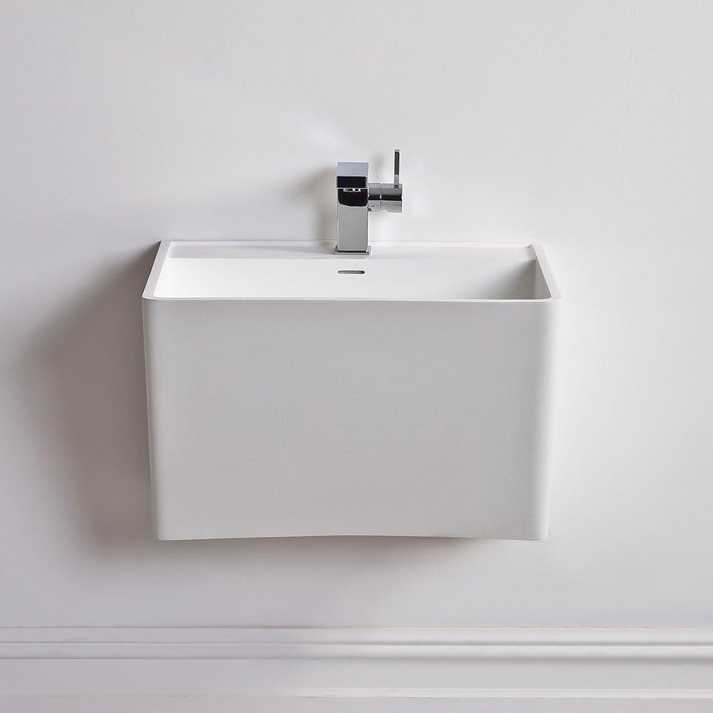 Slim Wall Hung Basin : ... Basins ? Lusso Stone Vado Solid surface stone resin wall hung basin