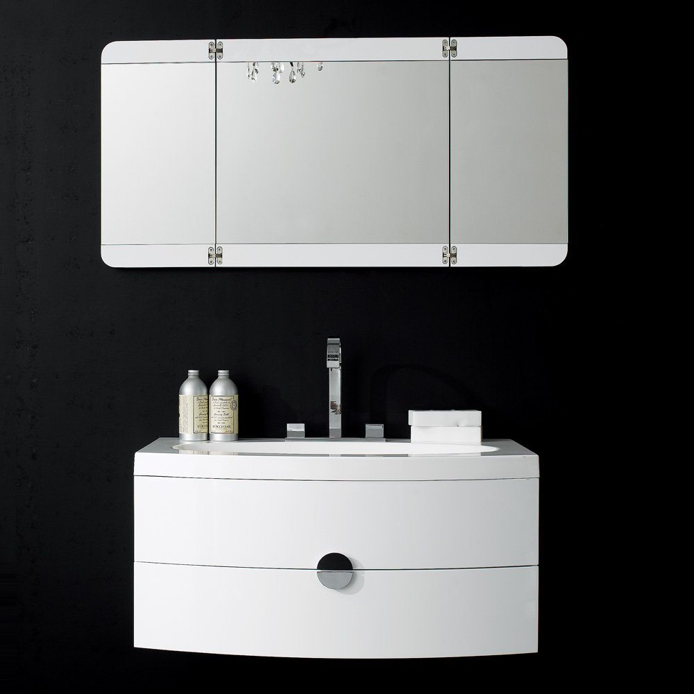 Lusso Stone Vanessa Wall Mounted Designer Bathroom Vanity Unit 920 Vanity Units