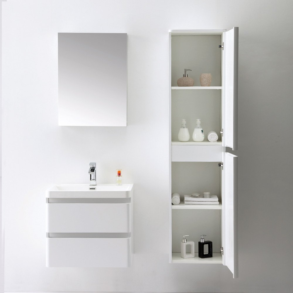 Lusso Stone Venetian Wall Mounted Designer Bathroom Vanity Unit 600
