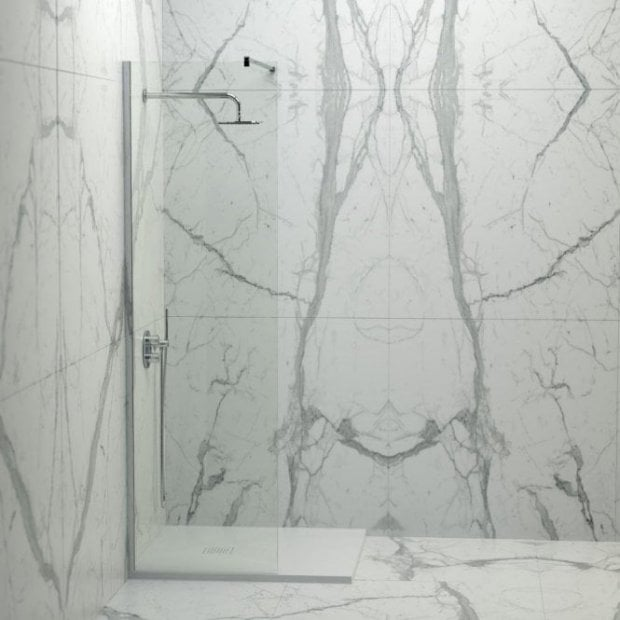 Lusso Stone Vigo Complete Walk In Shower Enclosure - Kit A (ALL SIZES)