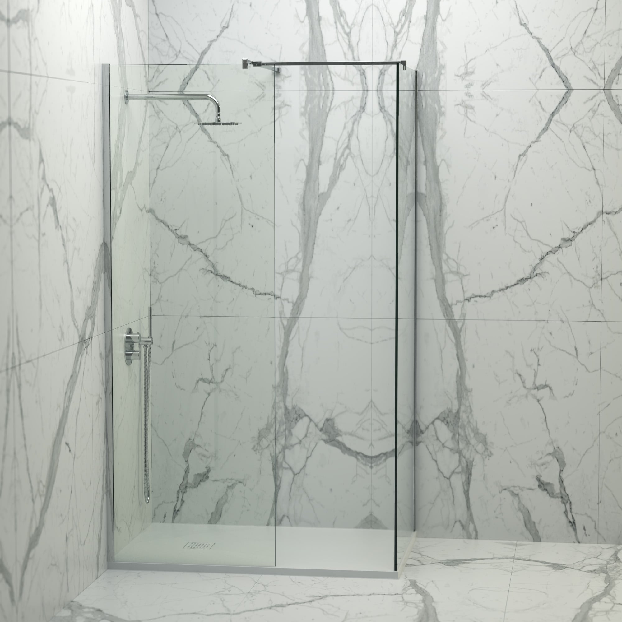 Lusso Stone Vigo Complete Walk In Shower Enclosure   Kit B (ALL SIZES)