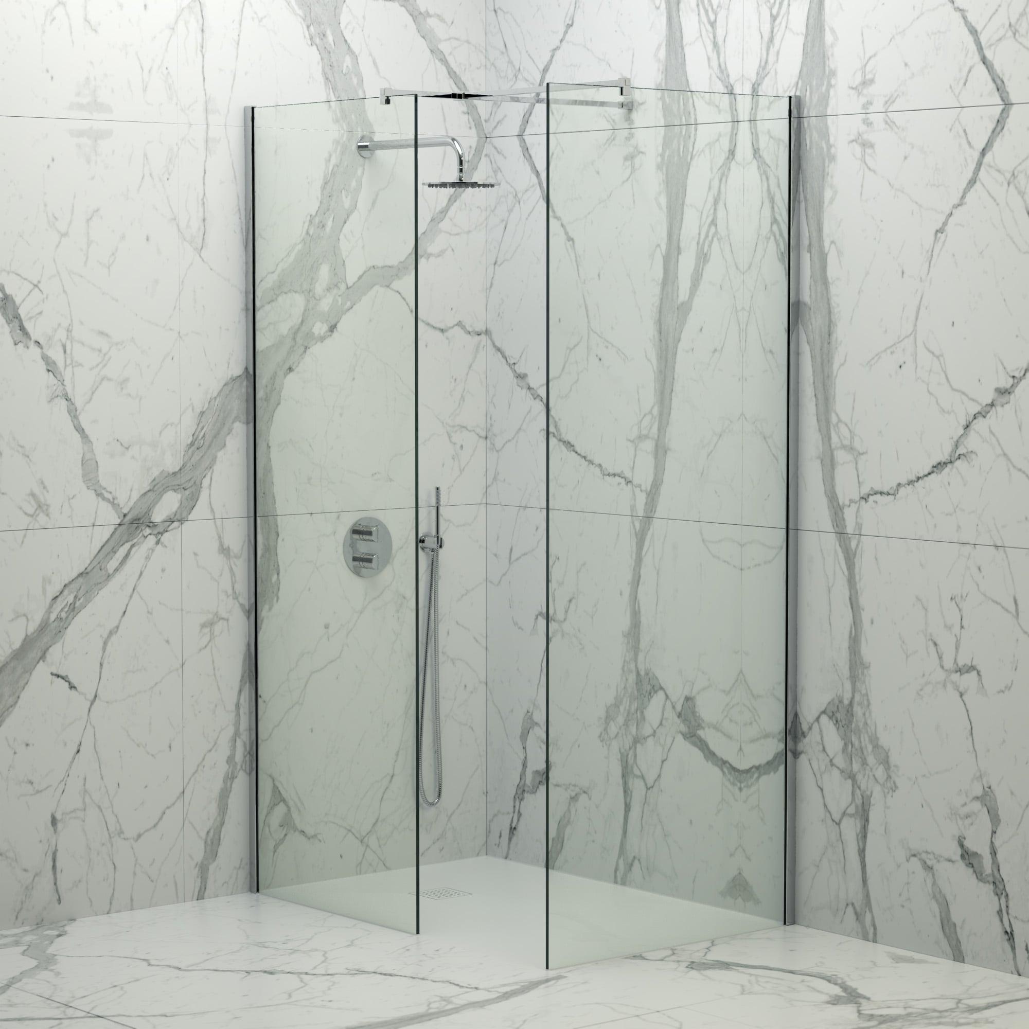 Lusso Stone Vigo Complete Walk In Shower Enclosure Kit B All Sizes