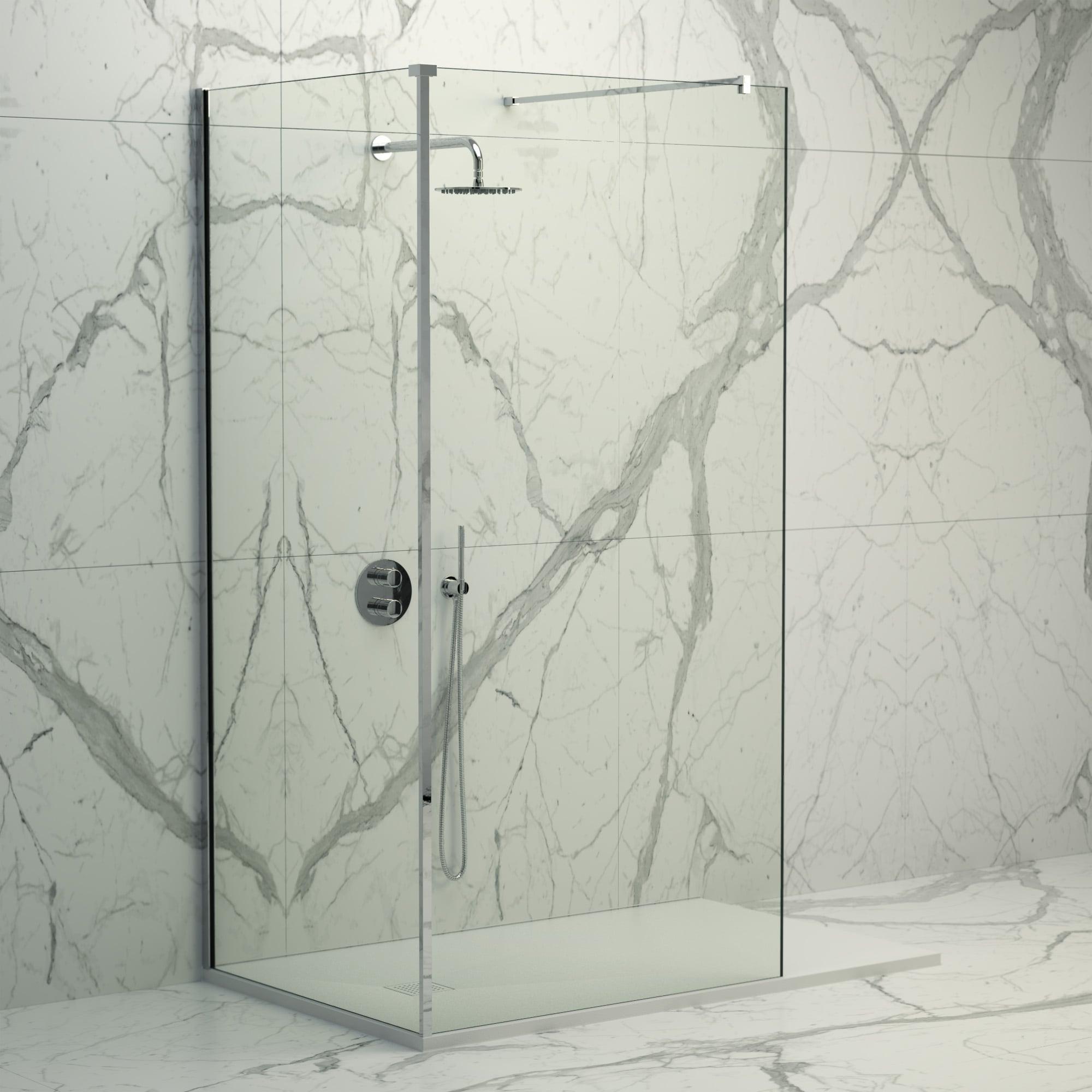 lusso stone vigo complete walk in shower enclosure kit c all sizes