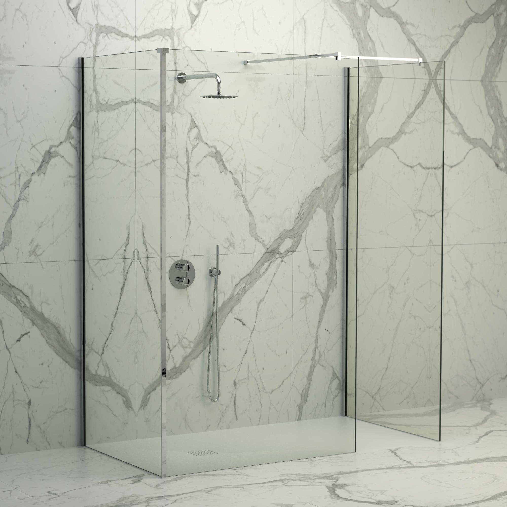 Lusso Stone Vigo Complete Walk In Shower Enclosure Kit D All Sizes