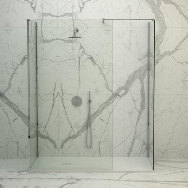 Lusso Stone Vigo Complete Walk In Shower Enclosure - Kit D (ALL SIZES)