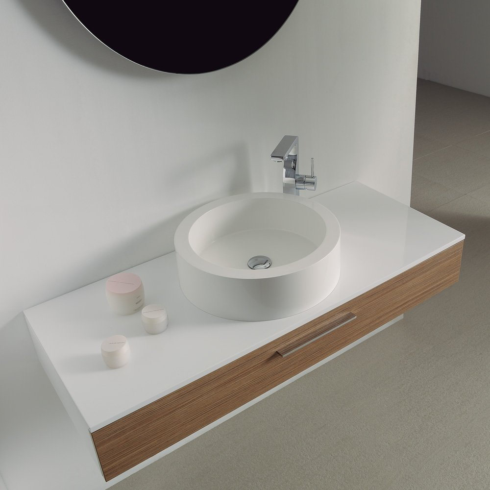 Lusso Stone Vogue Large Wall Mounted Designer Bathroom Vanity Unit
