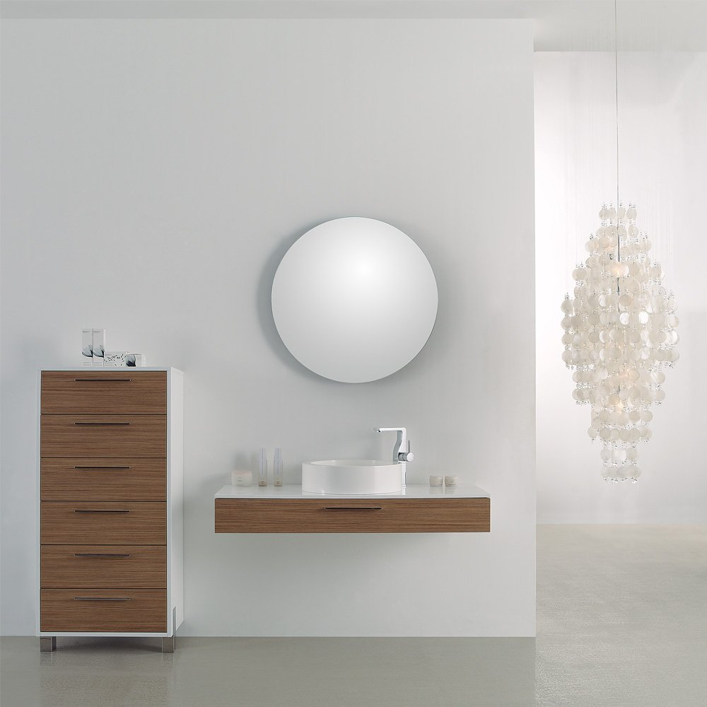 Lusso Stone Vogue Large Wall Mounted Designer Bathroom Vanity Unit 1200