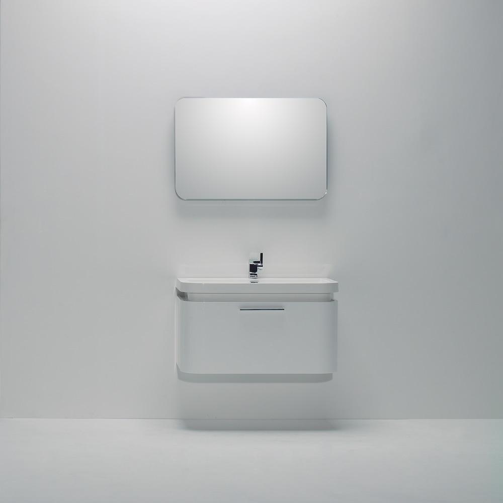 Lusso Stone Vos White Wall Mounted Designer Bathroom Vanity Unit 900 ...