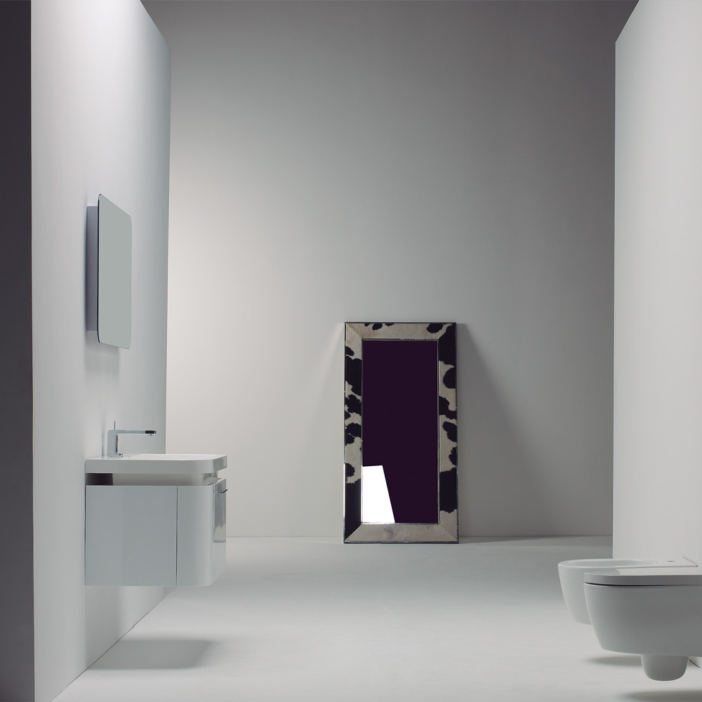 BEAUTIFUL Milano Stone Vanity Gloss White Wall Mounted