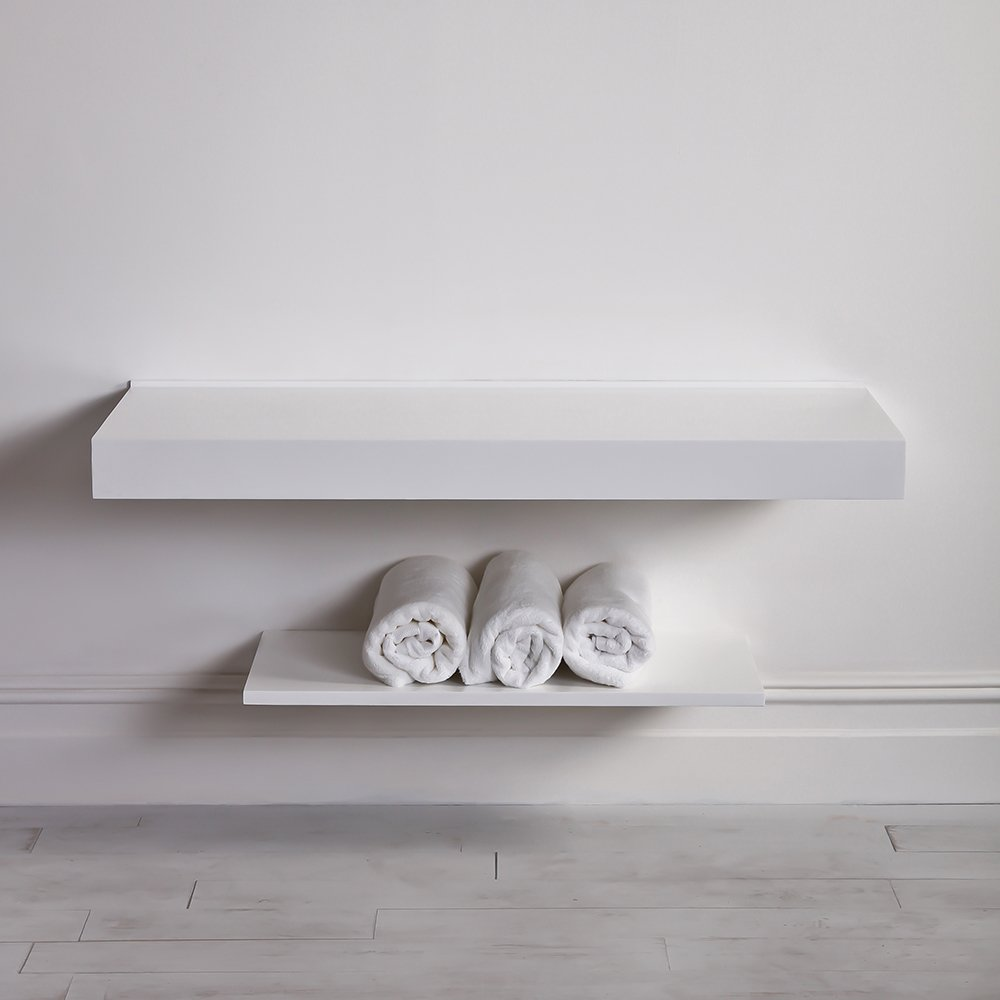 Lusso Stone Wall Hung Slimline Large Countertop Basin