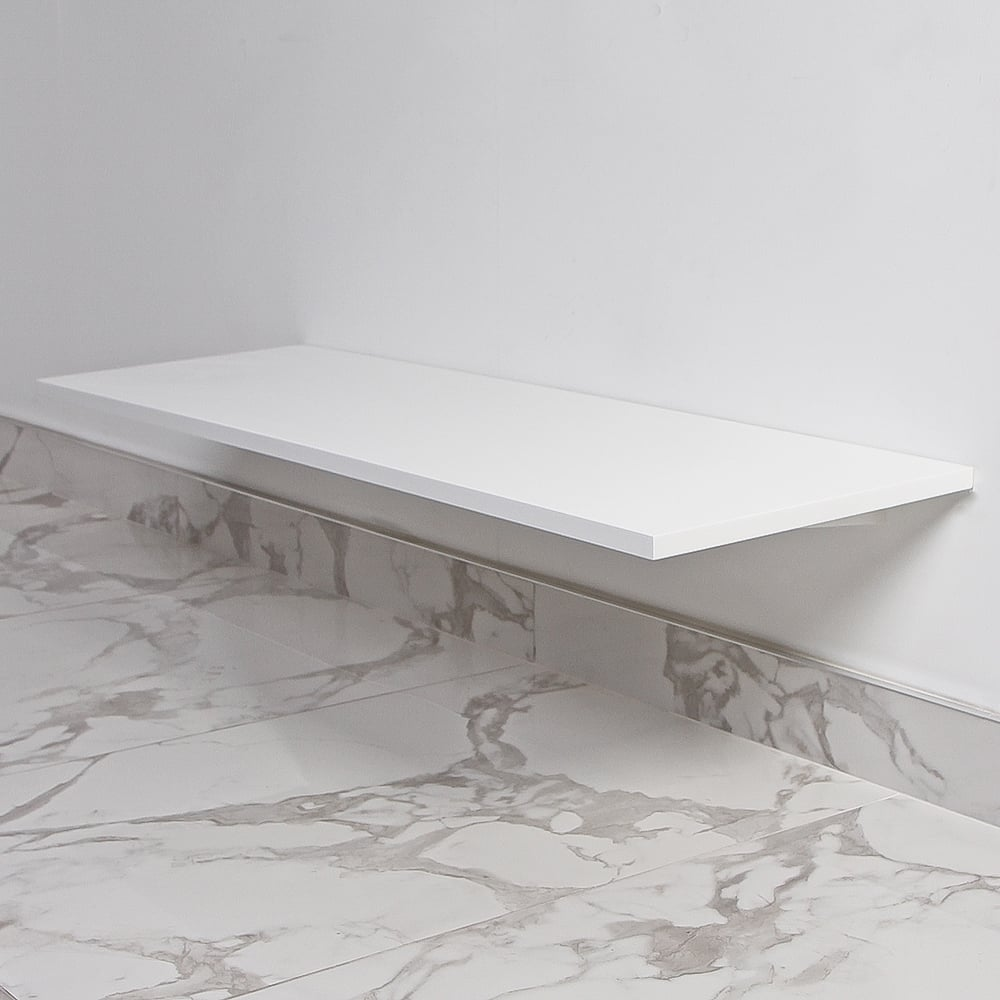 Lusso Stone Wall Hung Slimline Stone Resin Towel Shelf 1200 | Vanity ...
