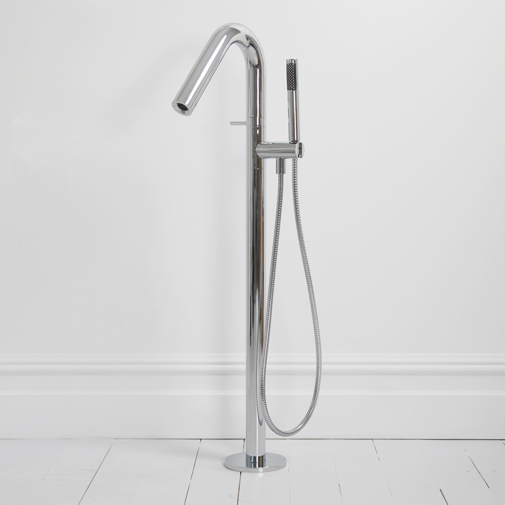 lusso tube round freestanding floor standing single lever chrome lusso tube round freestanding floor standing single lever chrome bath shower mixer tap taps