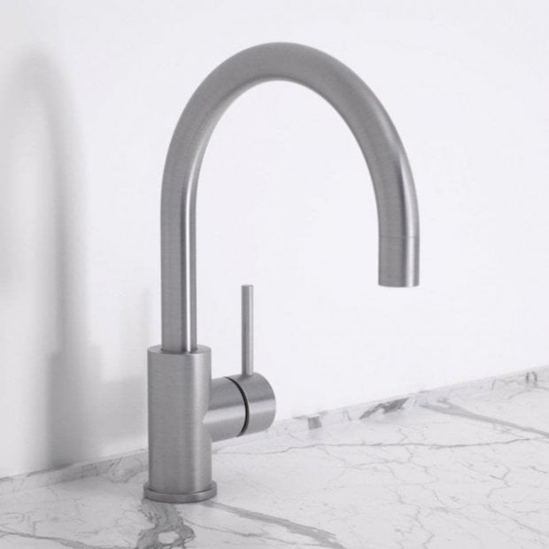 Lusso Urban Single Lever Kitchen Mixer Tap - Brushed Stainless