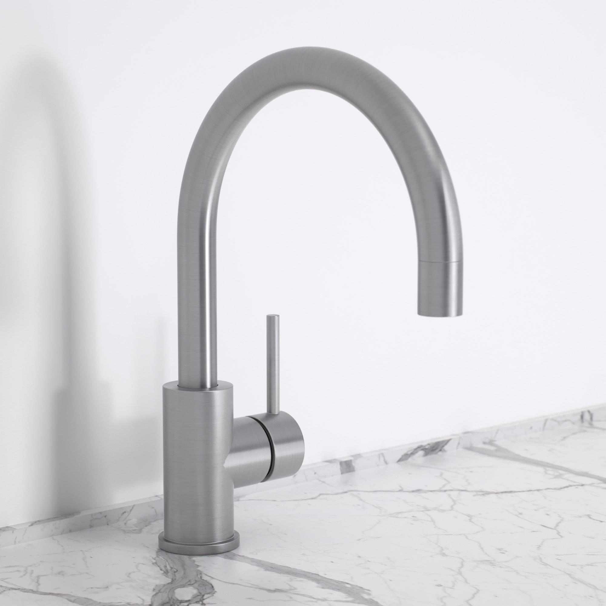 Brushed Stainless Kitchen Tap | Lusso Kitchen Tap