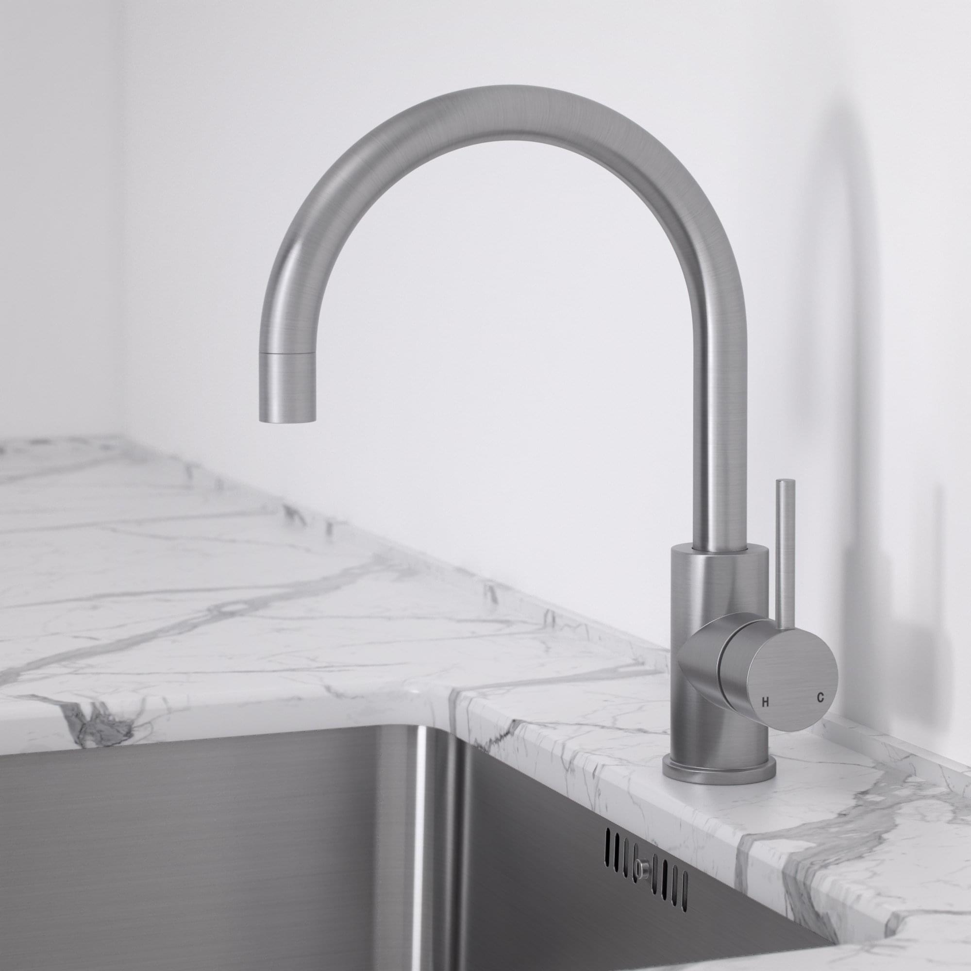 Brushed Stainless Kitchen Tap Lusso Kitchen Tap