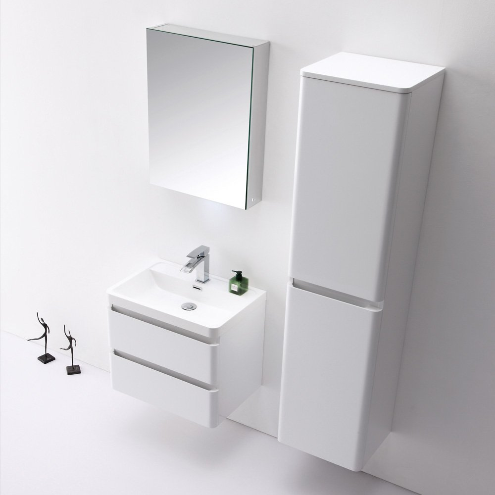Lusso Venetian Wall Mounted Tall Storage Cabinet Vanity Units