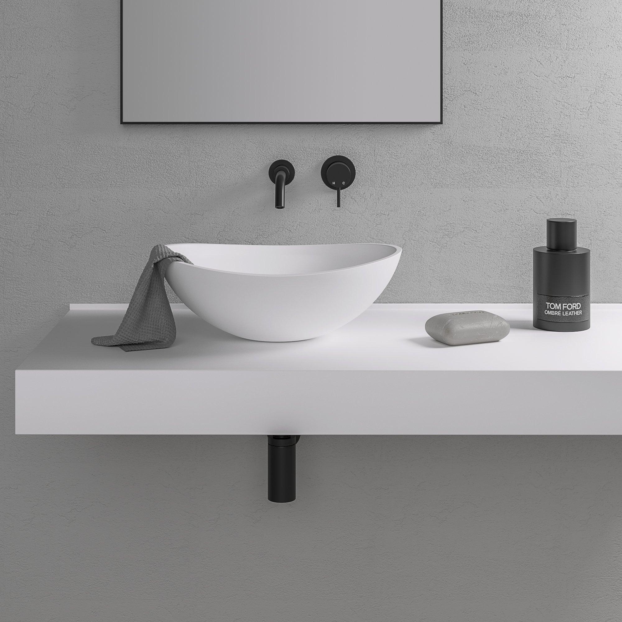 Countertop Floating Basin Shelf Modern