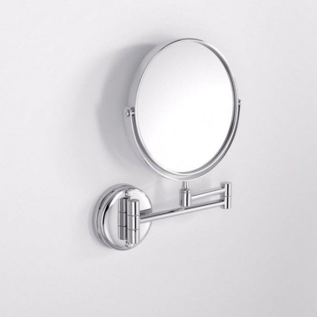 Lusso Wall Mount Round Cosmetic Mirror Chrome
