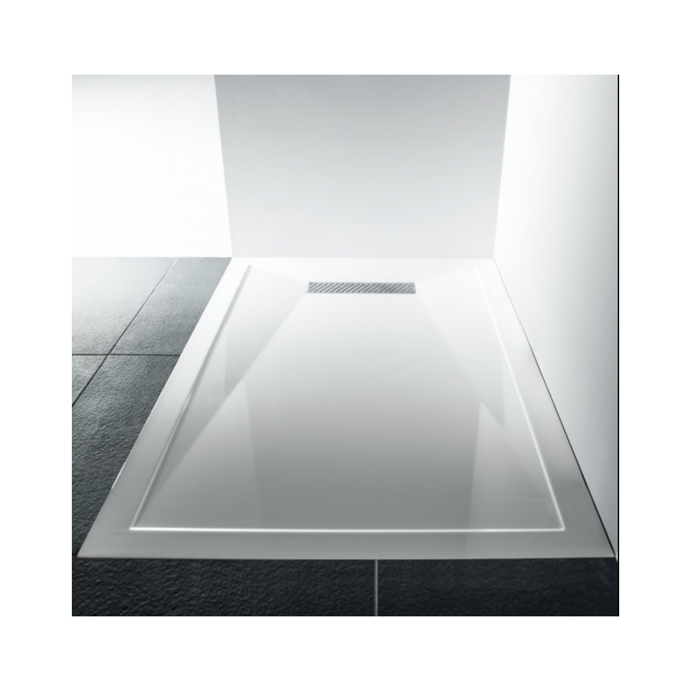 Gentil LINEAR MODERN LOW PROFILE POLISHED STONE RESIN SHOWER TRAY (ALL SIZES)