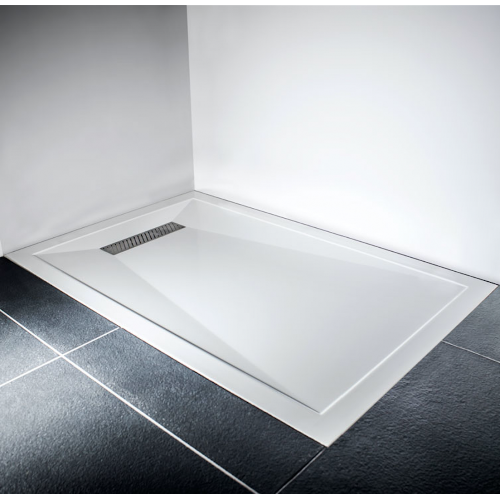 Delicieux LINEAR MODERN LOW PROFILE POLISHED STONE RESIN SQUARE RECTANGLE SHOWER TRAY  1200 X 800