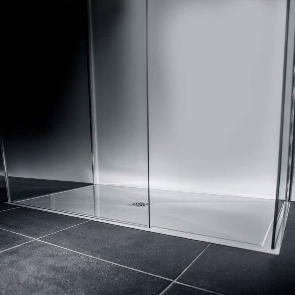 MODERN LOW PROFILE POLISHED STONE RESIN RECTANGLE SHOWER TRAY