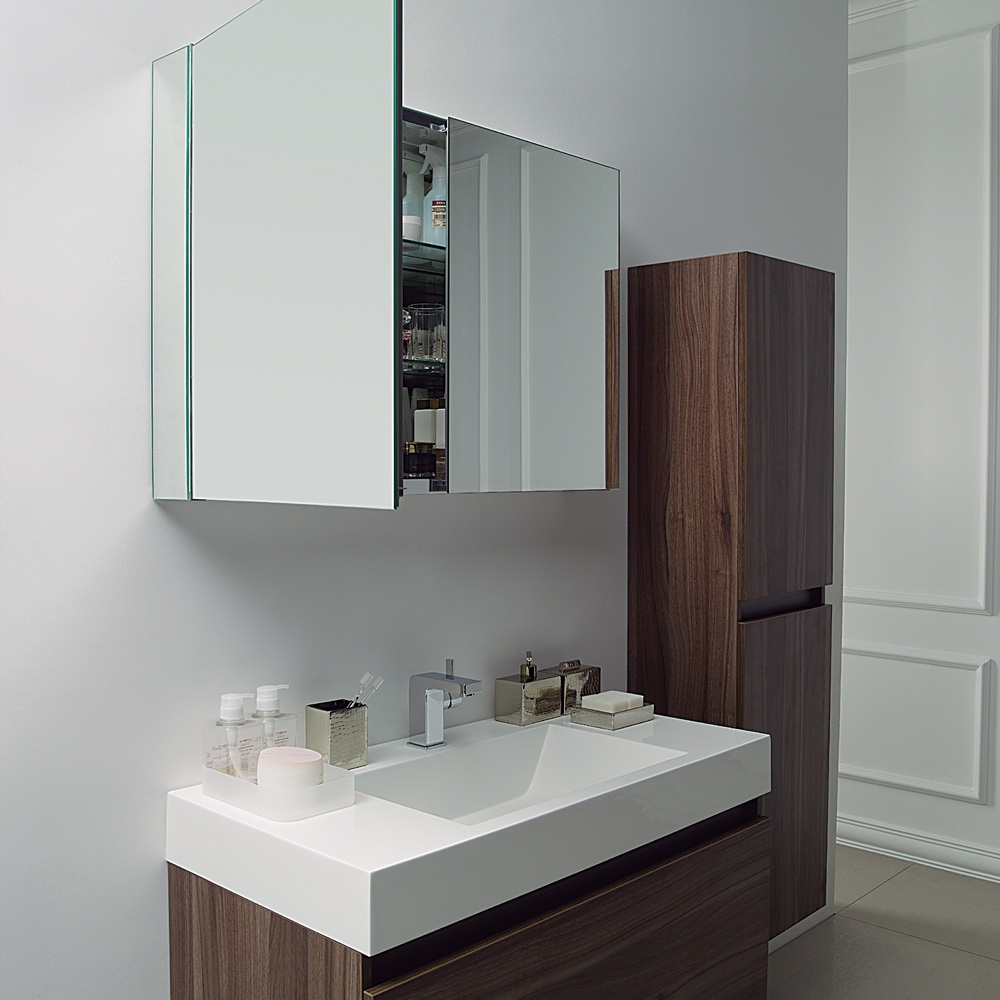 The bagno milano stone stone resin vanity unit - Designer wall hung bathroom vanity units ...