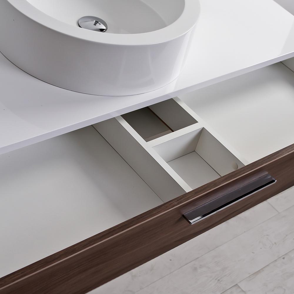 1200 vanity unit - The Edge Luxury Milano Stone Bathroom Vanity Wall