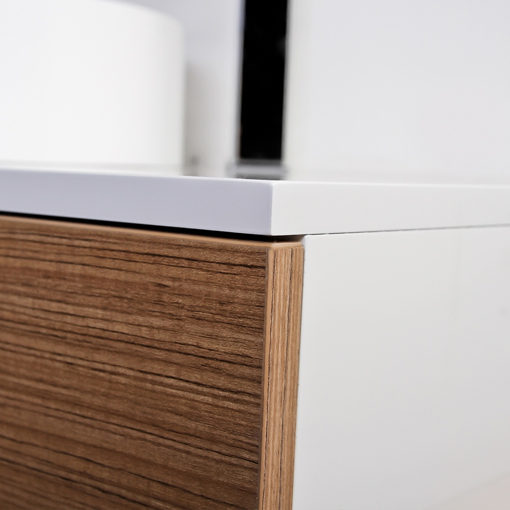 ... Stone Edge slim drawer wall mounted bathroom vanity unit & basin 1200