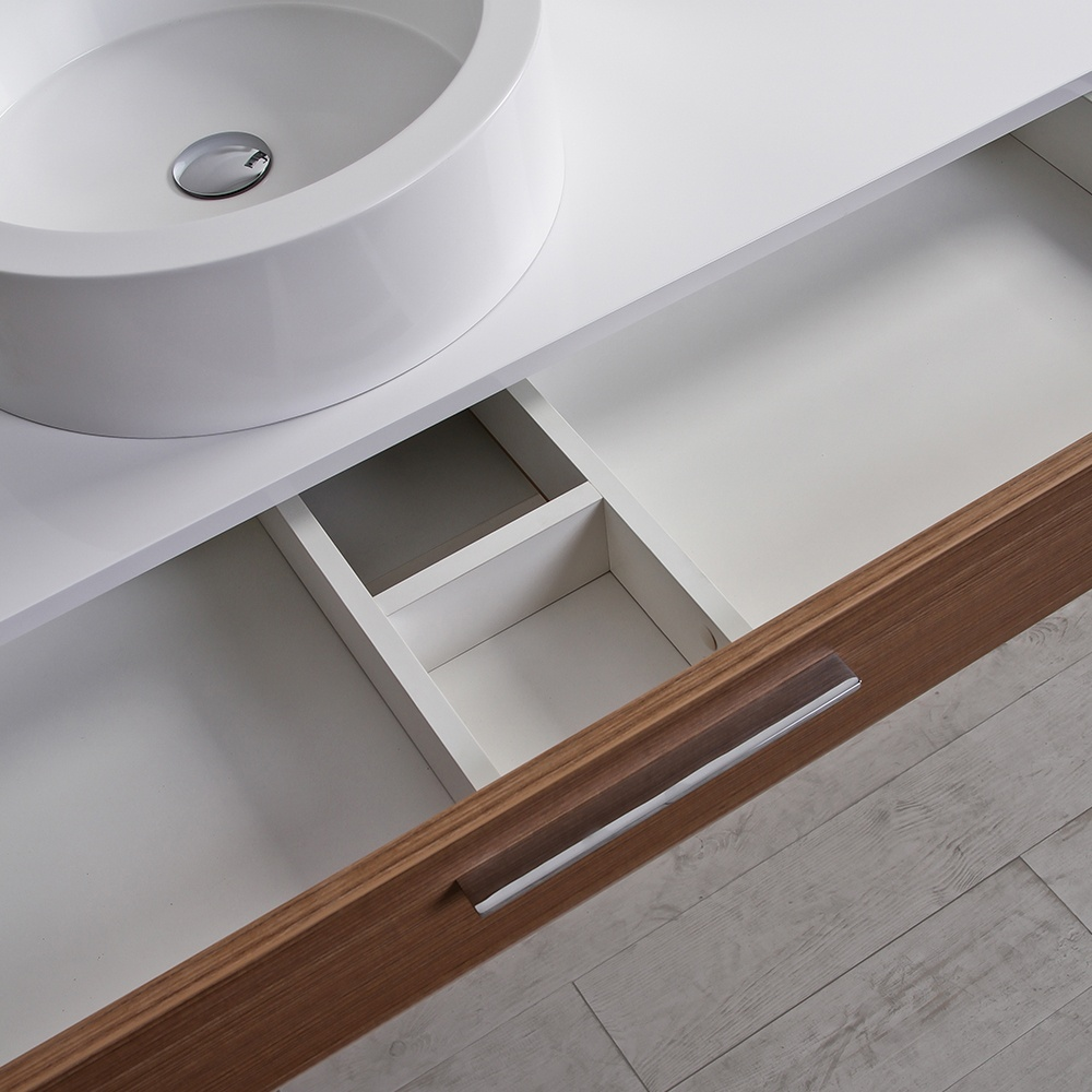 ... Stone Edge slim drawer wall mounted bathroom vanity unit & basin 1200