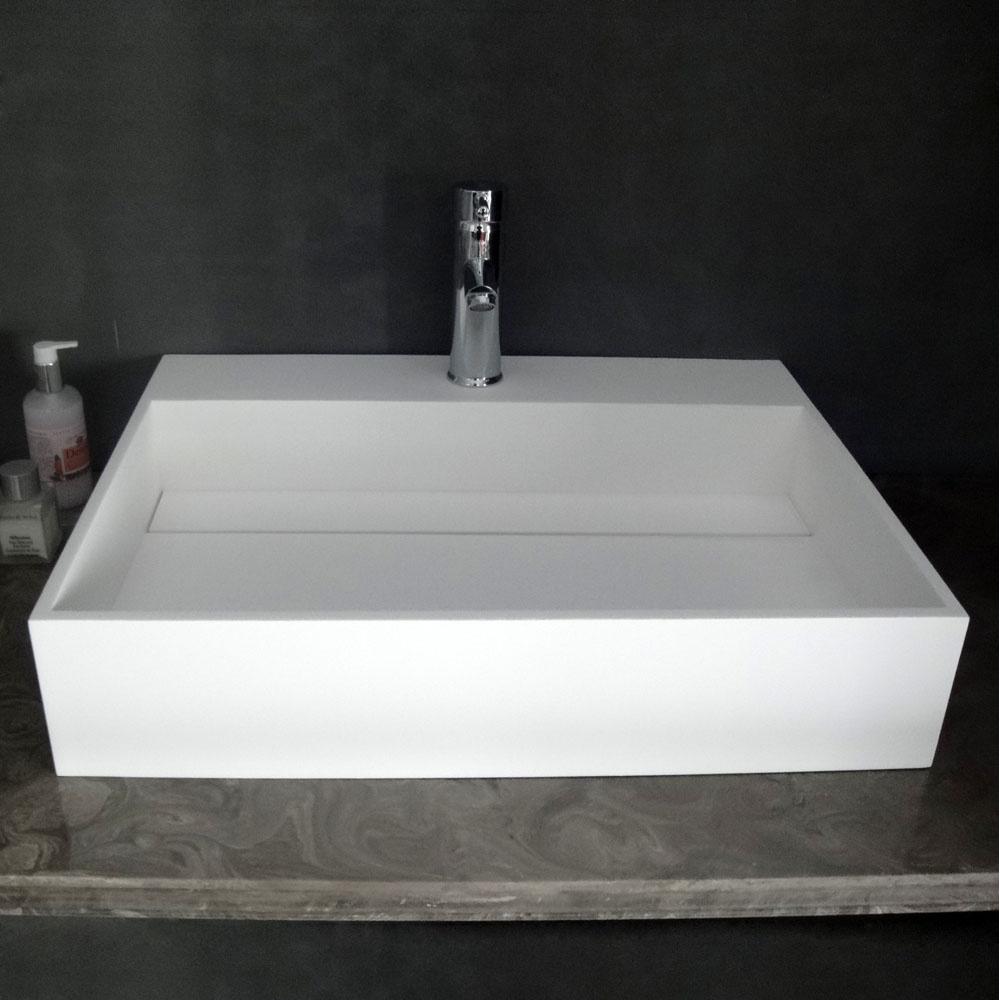 Slim Wall Hung Basin : ... Ethos slim Solid surface stone resin counter top wall hung basin 620