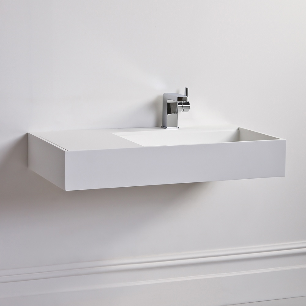 The Veno Stone Resin Milano Stone Basin Wall Hung