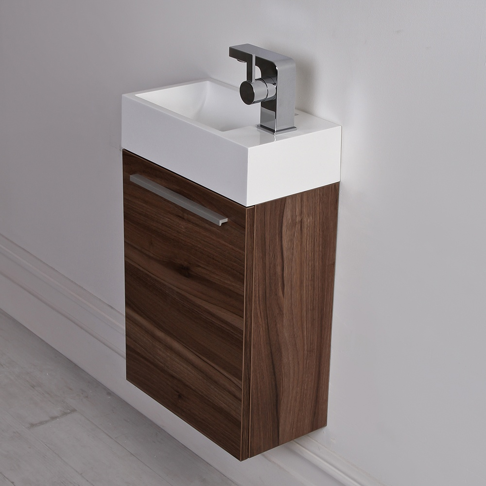 Milano stone walnut designer vanity unit 70 off - Marble vanity units ...