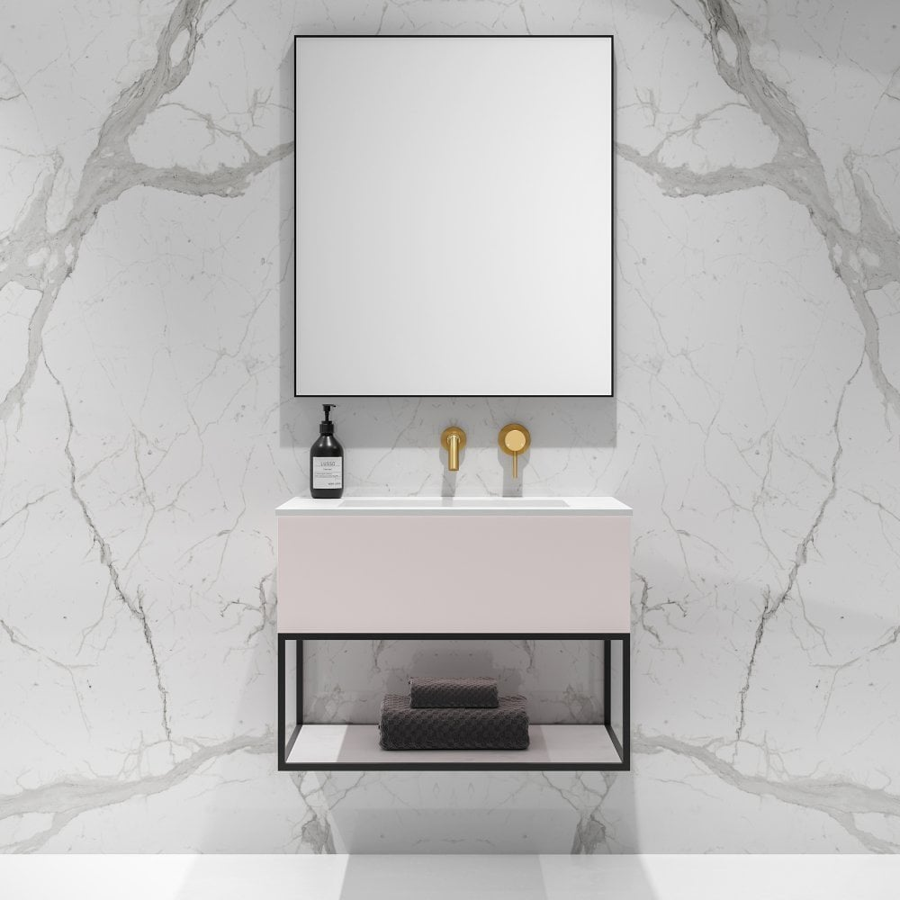 Powder Pink Vanity Unit On Trend