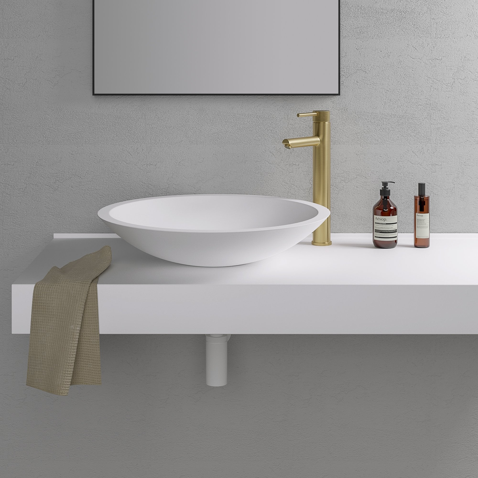 Notion 515mm Stone Counter Top Basin
