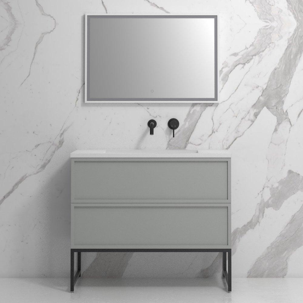 Matte Grey 1000mm Freestanding Vanity Unit Expertly Designed