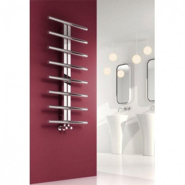 Pizzo modern polished stainless steel towel radiator